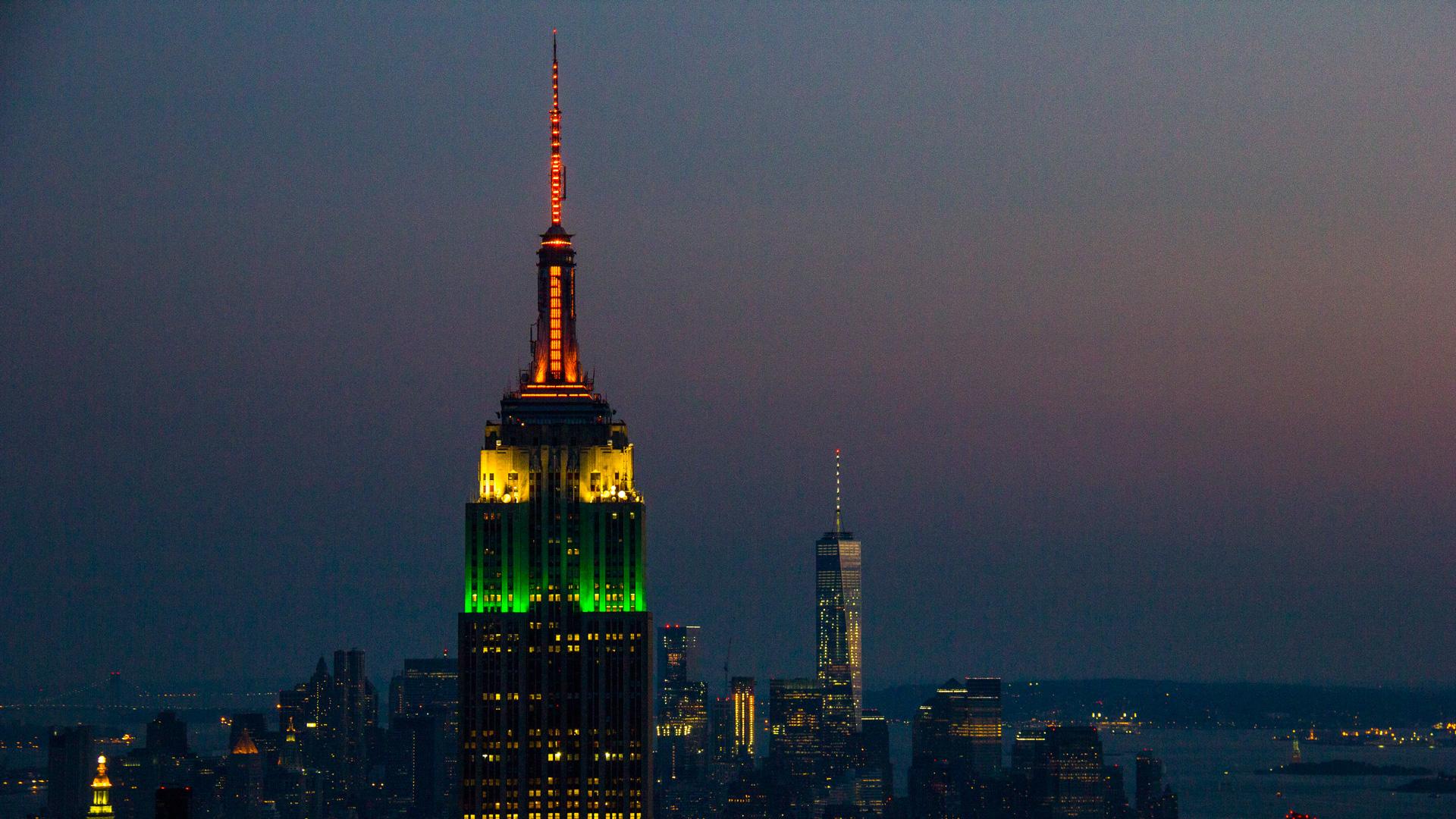 Indian Tricolour projected on New York's iconic Empire State Building